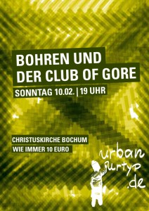 #26 BohrenClubOfGore Plakat hoch